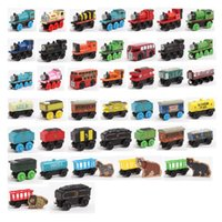 Wholesale Children s toy wooden Thomas train head sliding toy wooden THOMAS train magnetic puzzle toy car