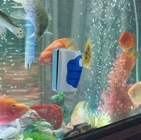 Wholesale Hot Sales Magnetic Brush Aquarium Fish Tank Glass Algae Scraper Cleaner Plastic And High Magnet Material C314
