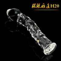 Wholesale Glass Realistic Dildo Glass Penis Sex Toys Adult Sex Party Game Toys Flirt Products Crystal Masturbation Sex Products For Women