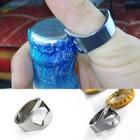 Wholesale Finger Ring Bottle Opener Stainless Steel Handy Bar Tool Waiter Server Beer Magic Creative Gifts Colors Drop Shipping