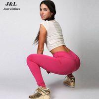 Wholesale Women Yoga Sports Pants Elastic Wicking Fitness Leggings High Waist Running Tights Women Push Up Yoga pants Clothing