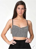 american apparel striped tank - Tank Tops American Apparel Camis Female Classic Black amp White Striped Patchwork Camisole Bra That Wipe A Bosom Steel Ring