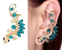 Wholesale Fashion Jewelry crystal K Gecko Ear Cuff earrings Gothic Animal Ear Clip YS C C2