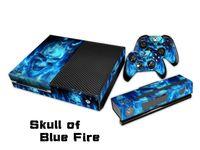 Cráneo de la piel / de las etiquetas engomadas protectoras de la etiqueta del fuego azul para los protectores de xbox uno Console + 2 + piel de Kinect