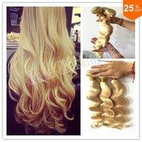 "Cheap 3Pcs Lot Human Hair Blonde Brazilian Hair Body Wave 613 Color From 10""-26"" Top Quality Blonde Virgin Hair"