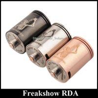 Wholesale Freakshow RDA Atomizer Rebuidable Drop Tank Vaporizer Chuff Enuff Thread vs Doge The Troll V3 V4 Electronic Cigarette DHL Free