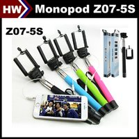 Wholesale Monopod Z07 S Selfie Stick Audio Cable Wired Take Pole Handheld Extendable for iPhone IOS Samsung Android Smart Phone Cheap