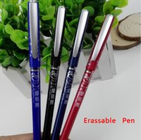 Wholesale erasable pen New Stationery erassable unisex pen Red Blue Black unisex pen