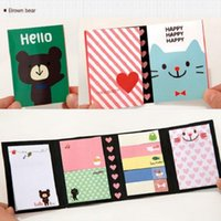 Wholesale BROWN BEAR Animal Post Bookmark Point Flags Marker Memo Tab Sticky Notes Exquisite for Office School House Colors Random
