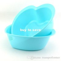 Wholesale fast shipping heart wash rice sieve vegetables basket fruit bowl wash rice basket bowls drain basket