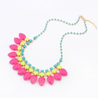 beaded pendant lights - Candy Light Color Lovely Cup Chain Statement Necklaces Pendants CX132