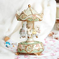 christmas music box - Flower Horse Toys Merry Go Round Music Box Floral Christmas Valentine Birthday Gifts for Girls Friends Kiids Gift D5066