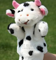baby doll milk - Super cute cm pc plush milk cow education game sleep story animal pacify hand puppet doll stuffed toy baby gift