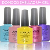 Led uv gel uv gel nail polish - Hottest DOMCCO Shellac Colors Amazing soak off led uv gel nail polish professional salon nail gel art varnish uv gel
