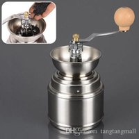 Wholesale Handmade Handy Spice Coffee Bean Grinder Stainless Steel Burr Grinder with Ceramic Core Coffee maker A3