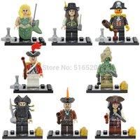 Wholesale DHL XSZ518 Pirates of the Caribbean Kid Baby Toy Building Blocks Sets Model Toys Minifigures Brick