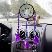 Wholesale Dream Catcher with feather Fashion Car wall hanging decoration ornament Crafts order lt no track