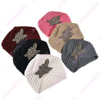Wholesale 2015 New Fashion Ladies Metal Jewel Accessory Winter Warm Sparkle Floral Turban Soft Knit Headband Beanie Crochet Headwrap Women