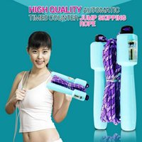 Wholesale Quality m automatic counter crossfit Children Jump rope Adult Skipping rope fitness equipment for men women