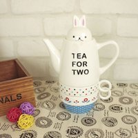 china tea sets - creative teapot rabbit design lovely tea set tea cup pot for one made in china with high quality food safe