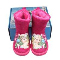 Wholesale Frozen Warm Boots Frozen Elsa Snow Boots for Baby Kids Children s Shoes for Christmas Animal Fur Boots Kids Shoes Kids Frozen