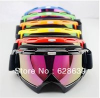 Wholesale 6PC Adult motocross dirt bike ATV motorcycle cross country skiing goggles glasses color lens