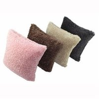Wholesale 2014 New Colors Soft Plush Sofa Decor Pillow Case Square x Pillow Cushion Cover