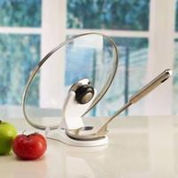 Wholesale home supplies Multifunctional lid rack folding pot Spoon Rests Pot Clips