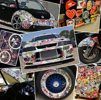 Wholesale 50pc Drop shipping single sticker wall home decor laptop motorcycle doodle sticker travelcase decal car accessories car sticker