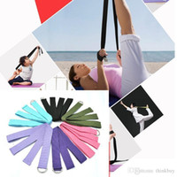 Wholesale 2015 New Yoga Stretch Strap D Ring Waist Leg Fitness CM Belts Free shippng