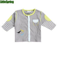 Wholesale autumn baby s clothing cute animal striped baby boys coats baby outwear cardigans baby boys clothes