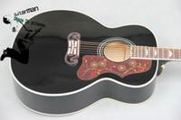 Wholesale Custom Black acoustic guitar Black Acoustic Guitar guitar Factory guitars from china