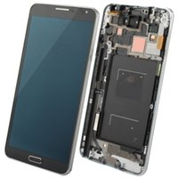 Cheap Gray With mid-frame For Samsung Galaxy note 3 N9005 N9006 N9008 LCD digitizer assembly original LCD display touch screen glass