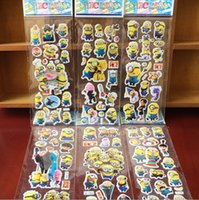 Wholesale 2015 Frozen Despicable me Minions Wall Stickers D Cartoon Christmas Father Big Hero little Pony paster Kindergarten Reward hot sale