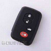 aqua car - Black silicone key cover for TOYOTA buttons Camry Highlander Prado Crown Land Cruiser Prius Aqua Hilux Rav4 car key
