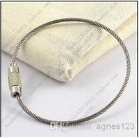 Wholesale High Quality Metal Wire Circle Keychain Stianless Stell Rope Key Ring TOP SALE LATEST NEW