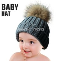 Wholesale New Baby Kids Snow Hat Winter Wool Knit Beanie Hats For Children Apparel Accessories Fashion Outdoor Hat As Christmas Gift