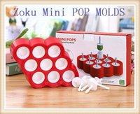 popsicle stick - 50pcs ZOKU Mini POP MOLDS Popsicle Mold Sticks With Drip Guards Homemade Pops DIY Invert Easily