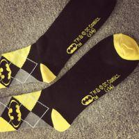 batman classic comics - 2015 new classic DC Comics superhero character in tube socks for men socks classic diamond lattice Batman