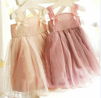 Cheap shoulder straps for baby Best kids korean lace dress