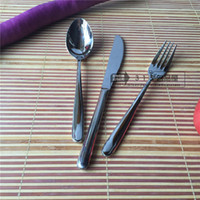 Wholesale high grade German royal household Western cutlery stainless steel steak knife and fork spoon three two cutlery Set