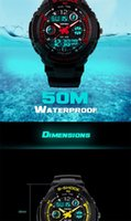 alarms for sale - SALE Waterproof Multi Function Military watches for mens S Shock Sports Watch LED Analog Digital Alarm Luxury Brand Men AAACSR