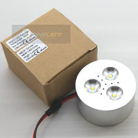Wholesale 2015NEW Super Bright High Power W led cabinet x3W LED Puck light warm white cool white Degree