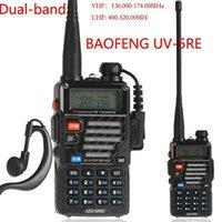 Wholesale Baofeng BF UV5RE civilian walkie talkie dual segment dual display UV5RE handheld walkie talkie Mhz Interphone