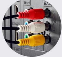 av meter - A three mm diameter x18 C065R AV cable audio and video line head mm meters long