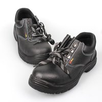 steel toe safety shoes - Men boots Genuine leather winter shoes Work shoes High top Insulation black safety shoes Hard Breathable leather botas