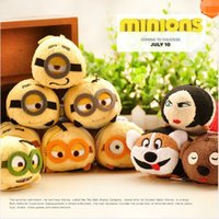 Wholesale Despicabe Me Cute Mini Tsum Tsum Minions Soft Stuffed Toy Kevin Bob Minions Doll Phone Screen Cleaner