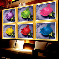 antique paint colors - DIY D Diamond Painting Rose Colors Round Rhinestone Pasting Decorative Handmade Painting Diamond Embroidery Mosaic Needlework