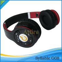 syllable wireless bluetooth headphones - Syllable G08 Noise cancelling wireless bluetooth DJ Over Ear Headphones VS Bluetooth Wireless headphone PB earphone QC25 Headphone DHL