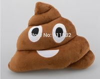 Wholesale Cushion Emoji Pillow Gift Cute Shits Poop Stuffed Toy Doll Christmas Present Funny Plush Bolster Cojines Pillows Cushions